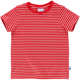 Finkid Supi SS Shirt Kids red/offwhite